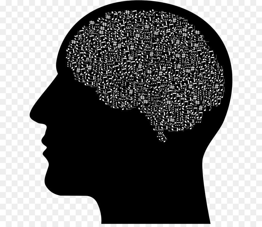 png royalty free Brain head silhouette transparent. Mind clipart
