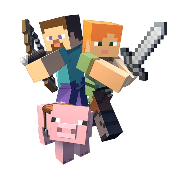 freeuse stock Minecraft clipart. Transparent transparentpng .