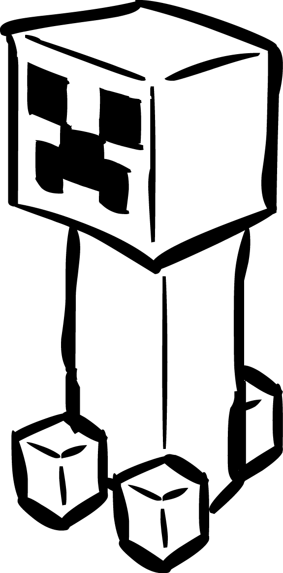 image freeuse download Minecraft clipart black and white. Pictures bedwalls co clipartfest