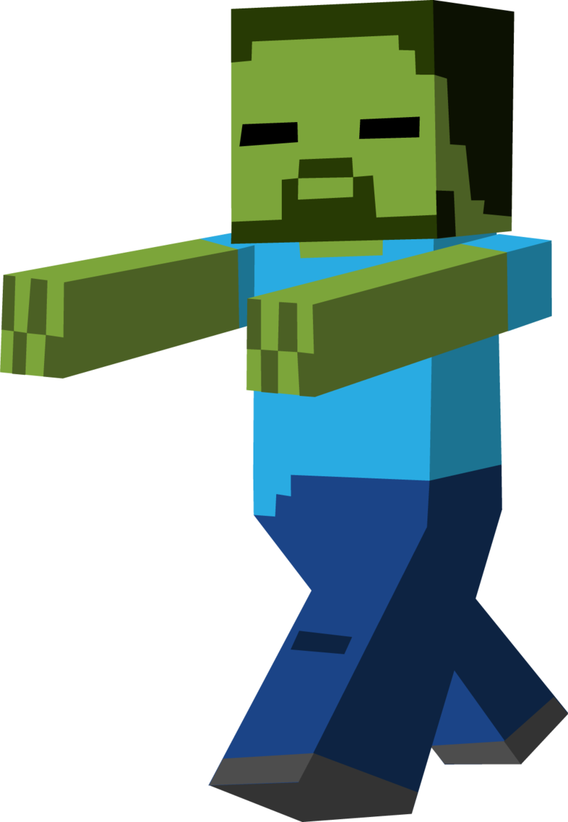 vector library download Minecraft clipart minecraft lego. Zombie running free on.