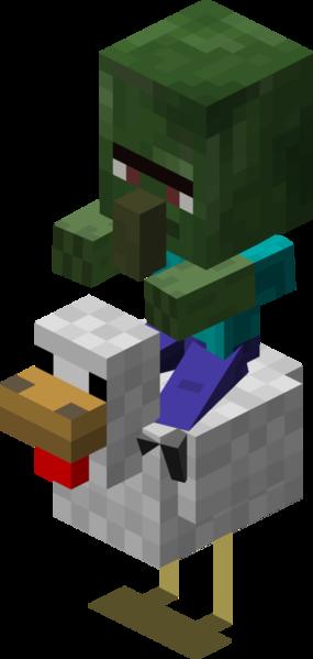 picture free download Chicken jockey with baby. Minecraft clipart minecraft villager.
