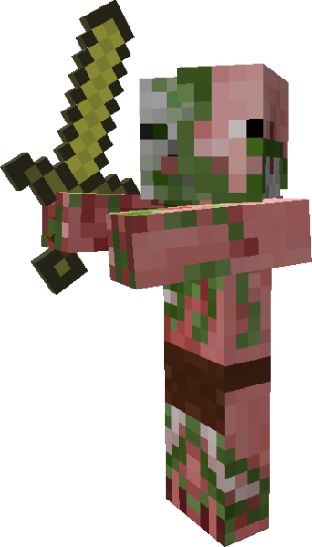 graphic transparent Zombie pigman they are. Minecraft clipart zombies.