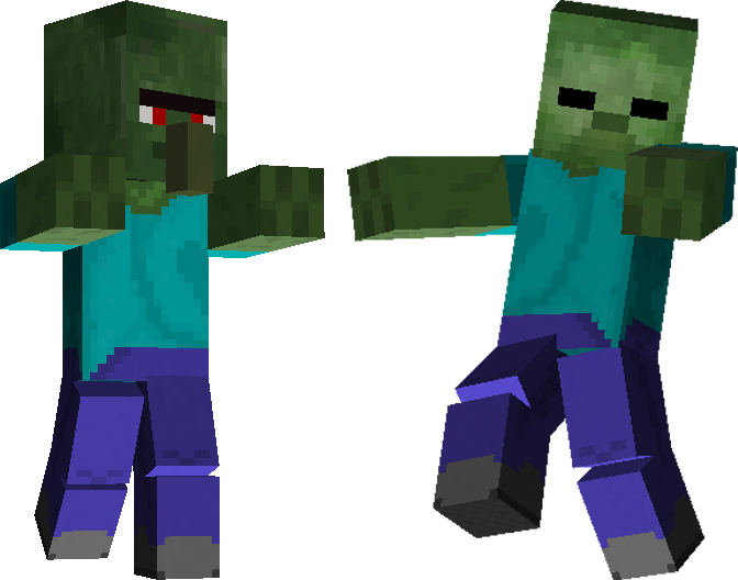 vector royalty free download Minecraft clipart zombies. Zombie running free on.