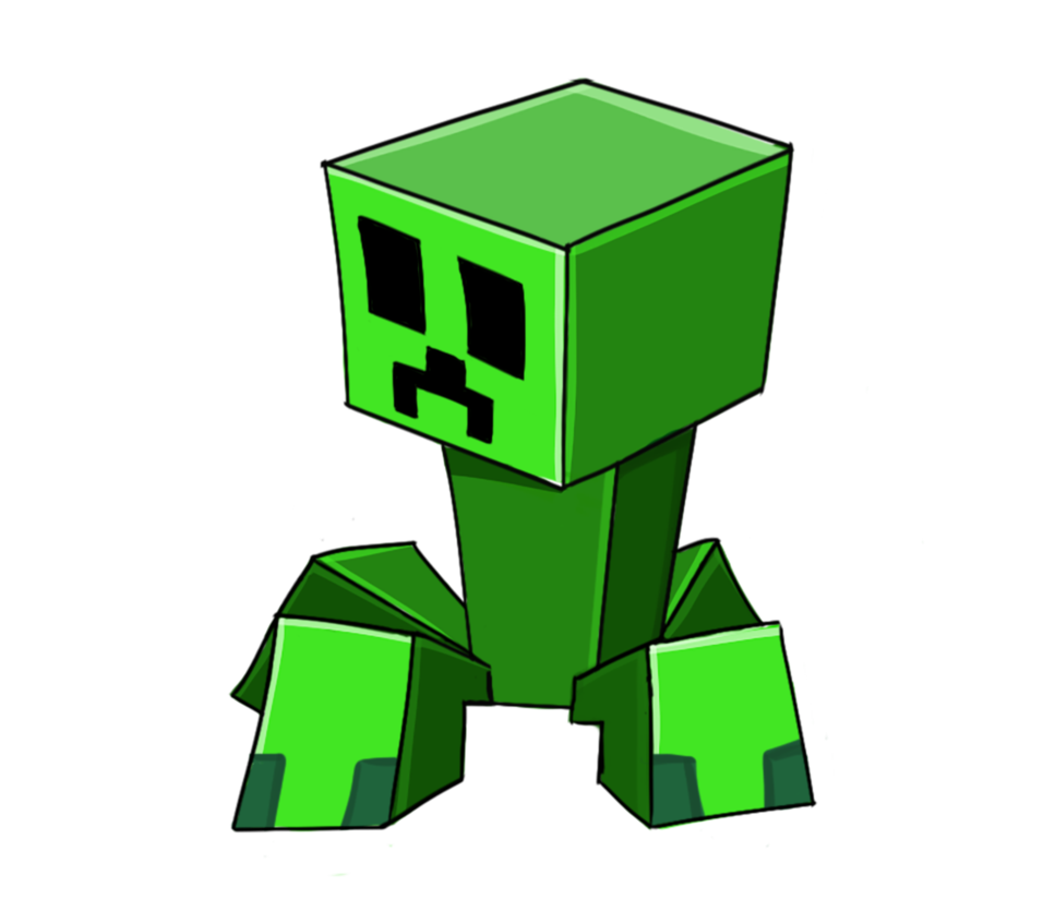 banner royalty free download Creeper Minecraft Drawing at GetDrawings