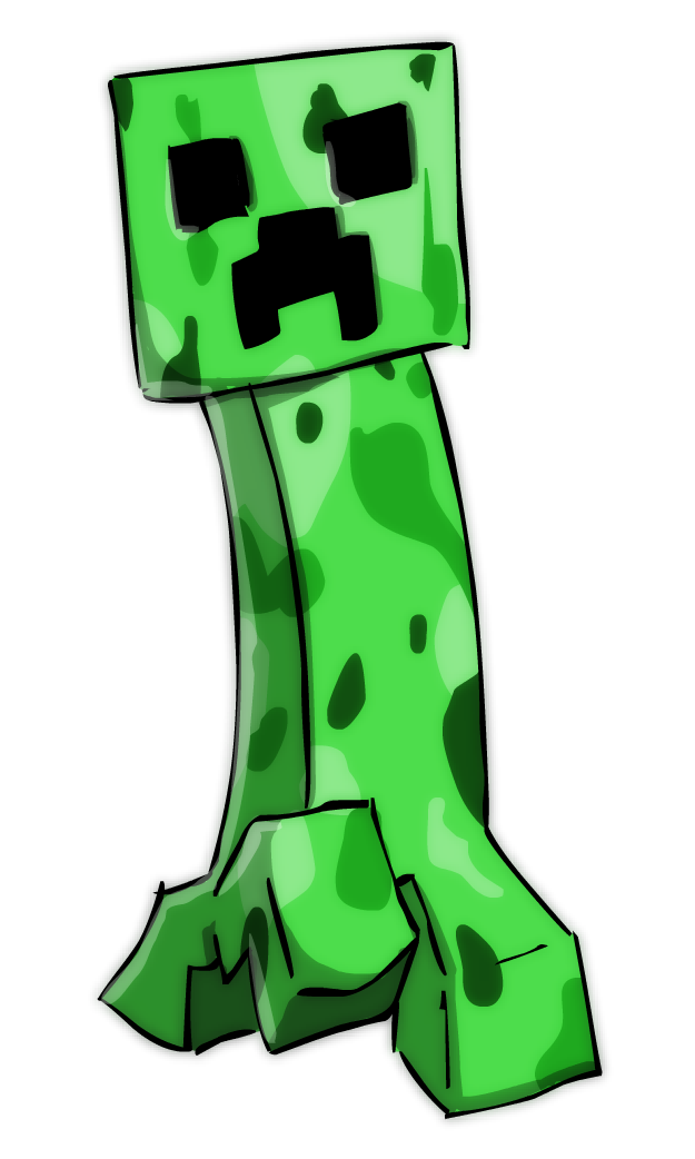 graphic free stock Minecraft at getdrawings com. Creeper drawing.