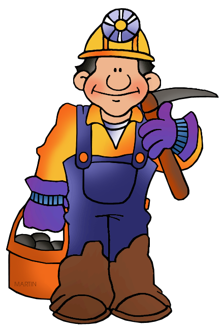 vector royalty free library Mining clipart. Miner occupations coal png
