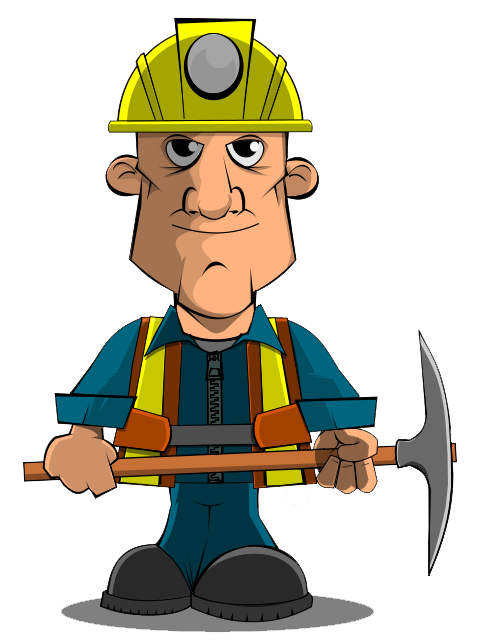 banner royalty free stock mining clipart