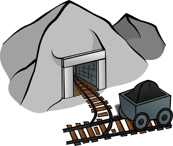 vector black and white Mine Clipart
