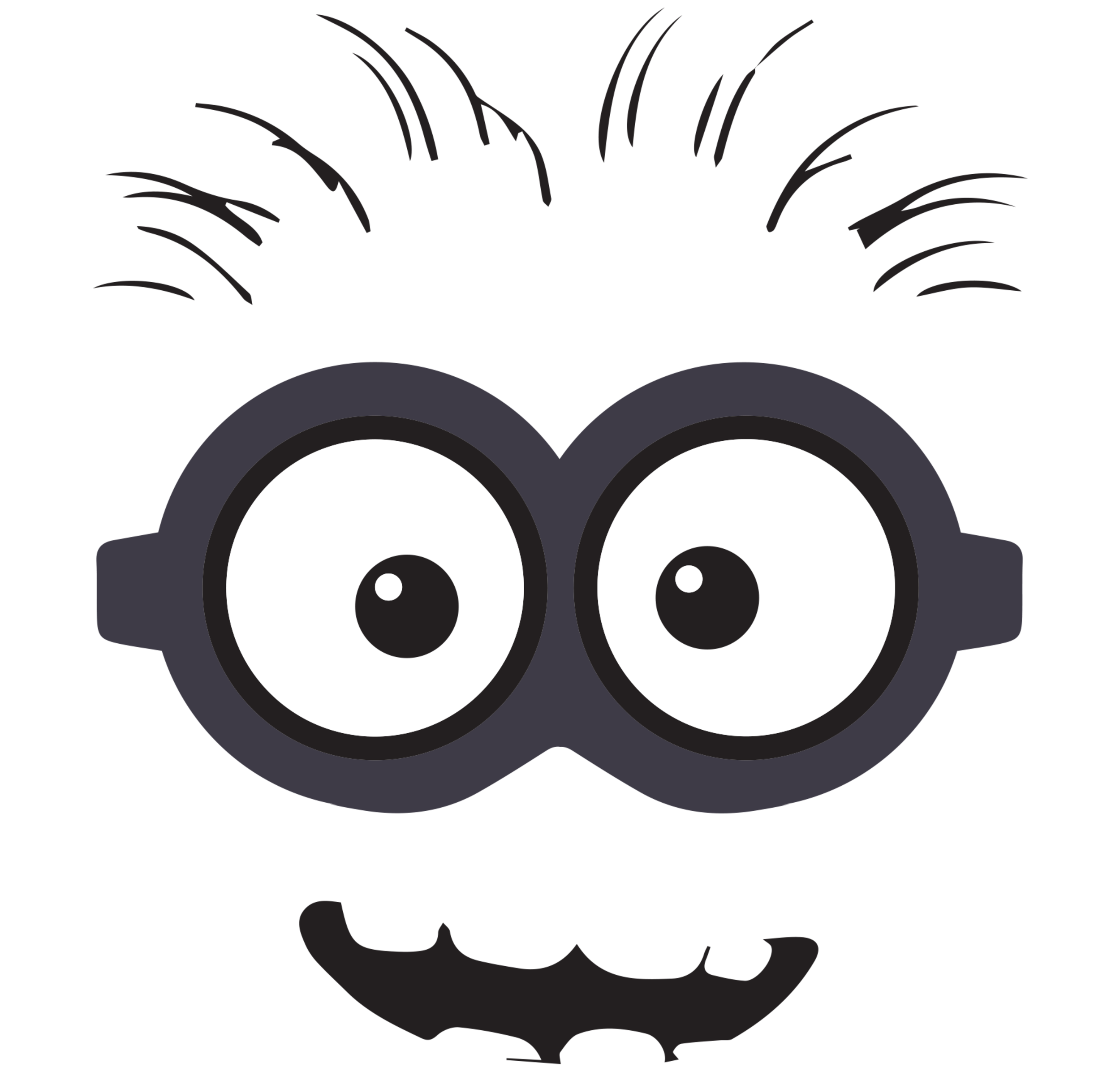 clipart library download Clip art free back. Hair clipart minion