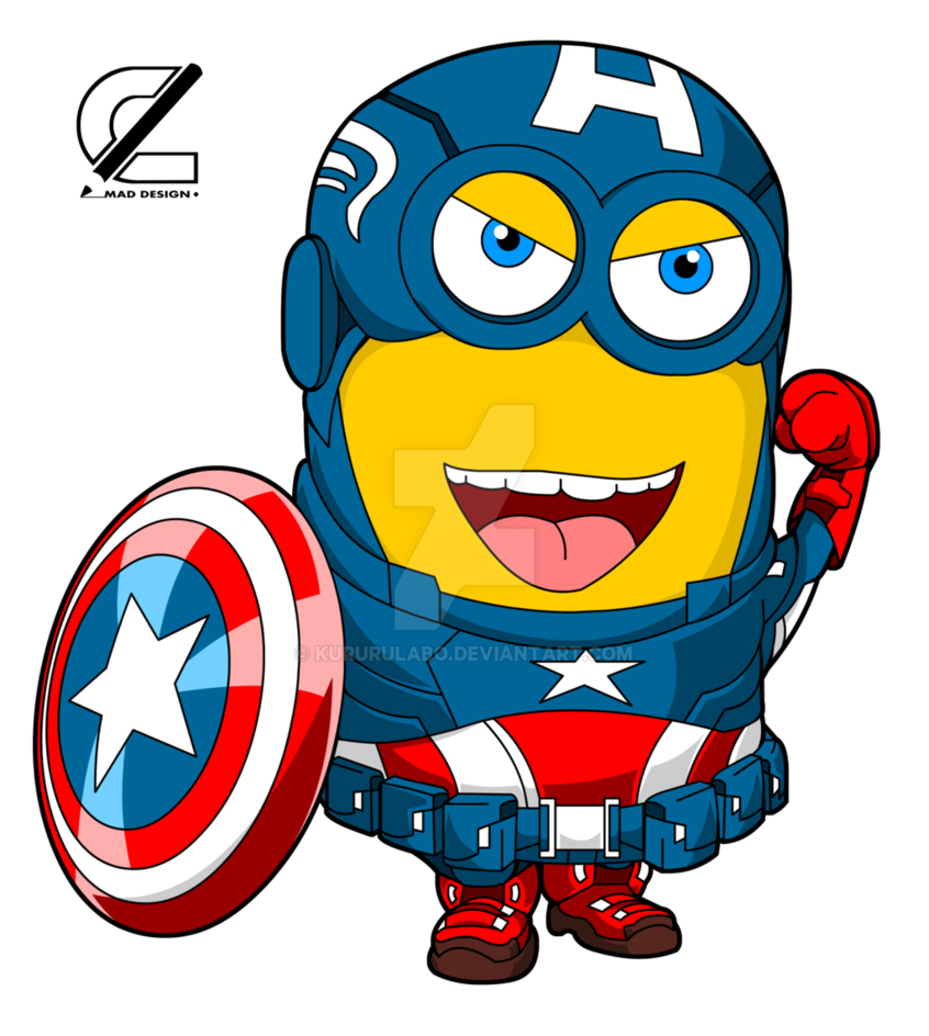 svg free download By kururulabo on deviantart. Minion clipart captain america.
