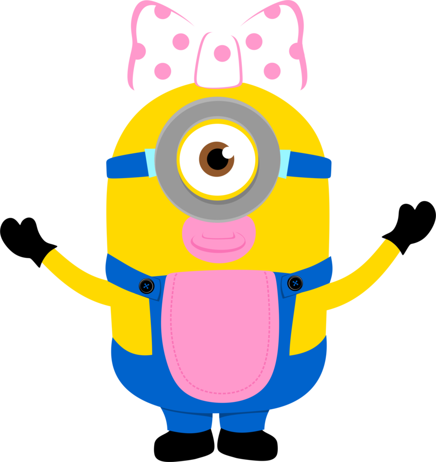 svg black and white stock Minions clipart pink dress. Despicable me and the.