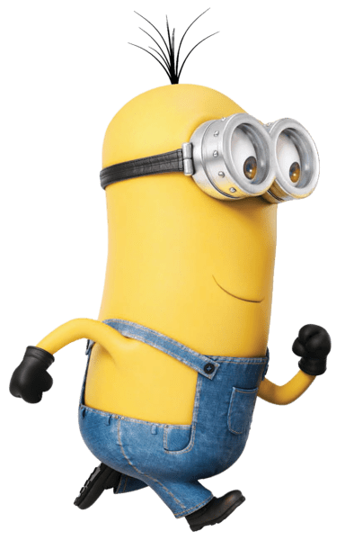 svg freeuse stock Minions clipart dancing. Minion running transparent png.