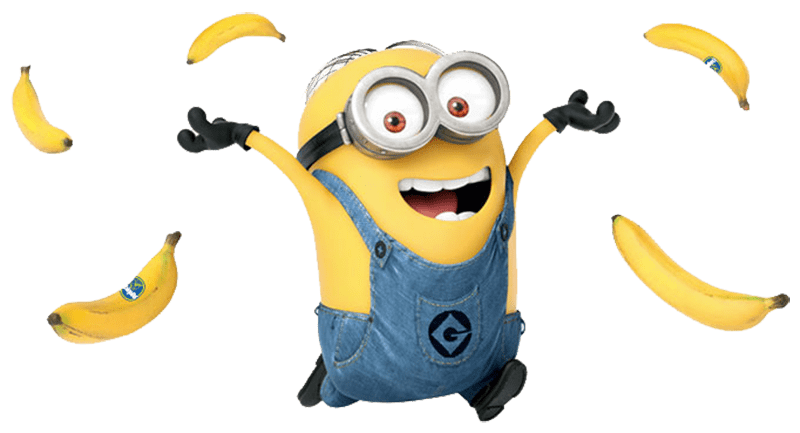 black and white download Minions clipart family. Minion and bananas transparent.