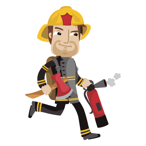 jpg royalty free download Busy fireman cartoon png