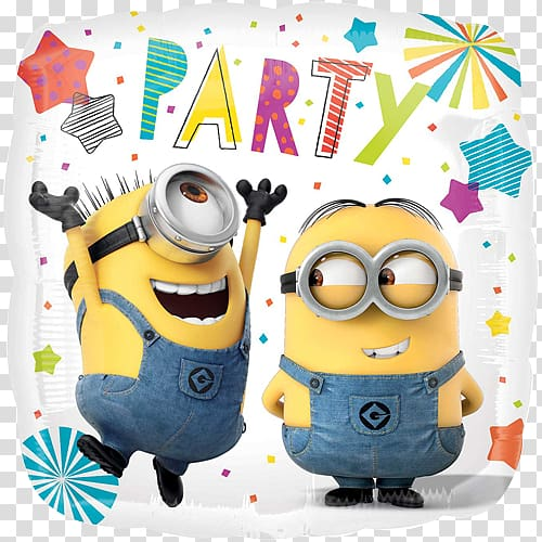 clip art free library Minions party clipart. Balloon birthday stuart the.