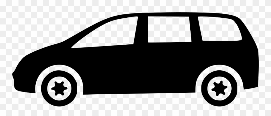 banner freeuse library Minivan clipart. Black and white png.