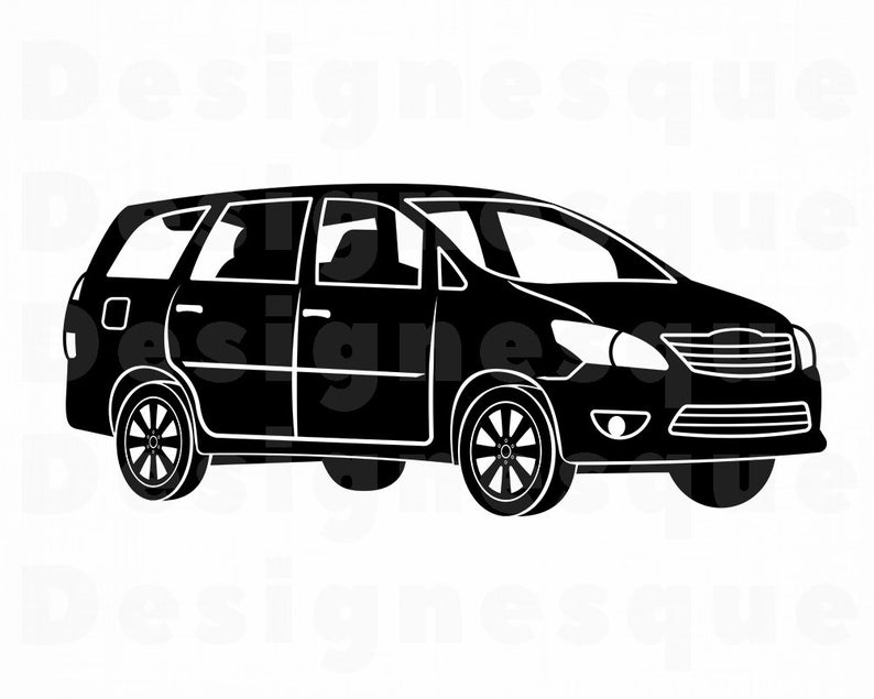 vector free Svg family car files. Minivan clipart.