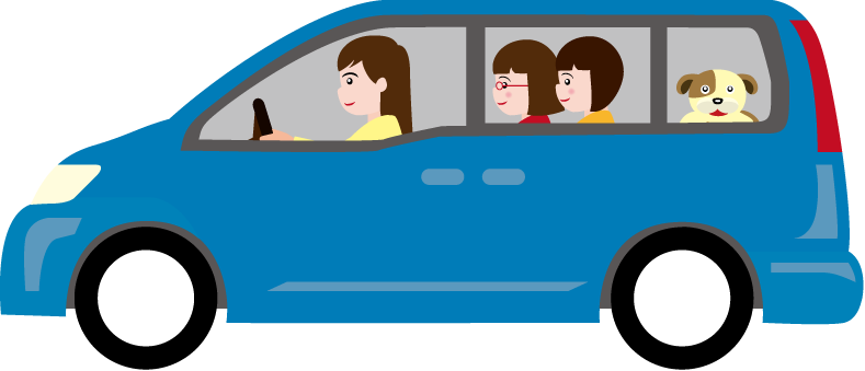 picture  collection of kids. Minivan clipart.