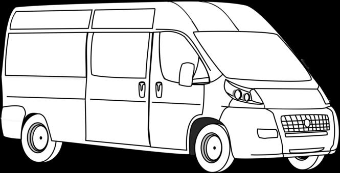image library stock Minivan drawing. Volkswagen type campervans free