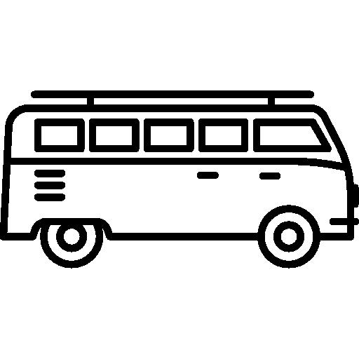 svg download Minivan facing Right