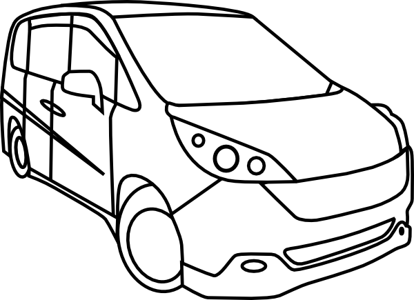 graphic library library Minivan Outline Clip Art at Clker