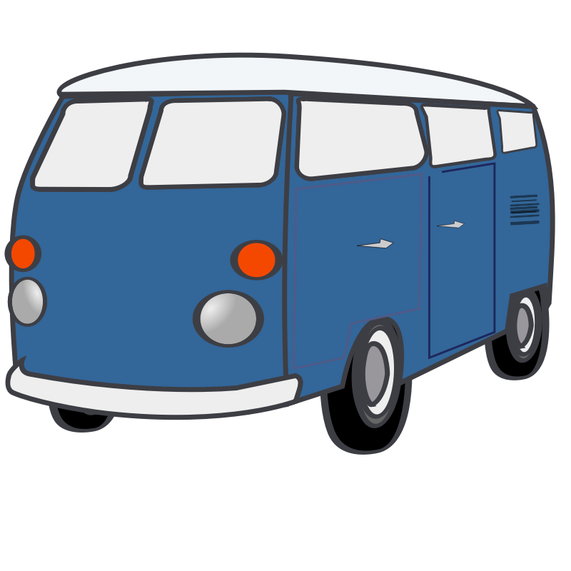 clipart library download Clip art van cliparts. Vector bus mini