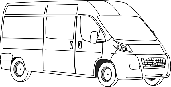 clip library stock Van Outline Clip Art at Clker