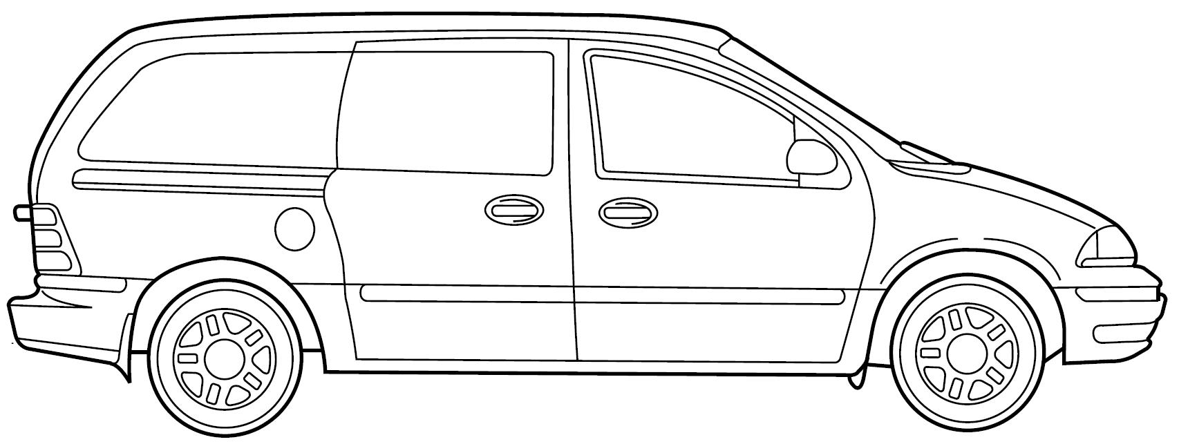 image stock At paintingvalley com explore. Minivan drawing