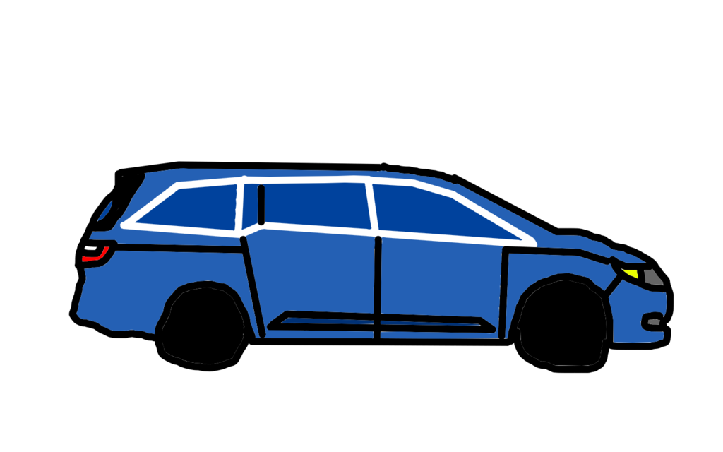 banner freeuse Honda odyssey my car. Minivan drawing