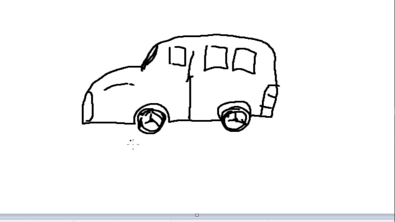 jpg freeuse stock Minivan drawing. How to draw car
