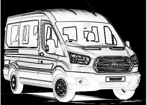 banner royalty free download New ford transit minibus. Minivan drawing