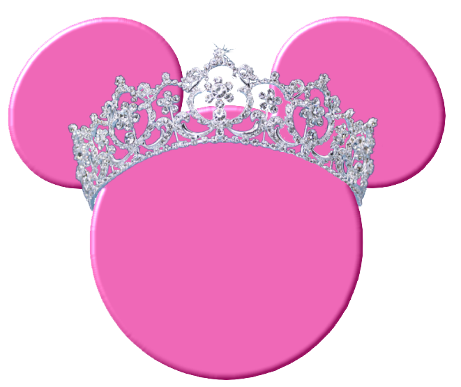 picture transparent library Mouse silhouette heads craft. Minnie clipart face outline pink.