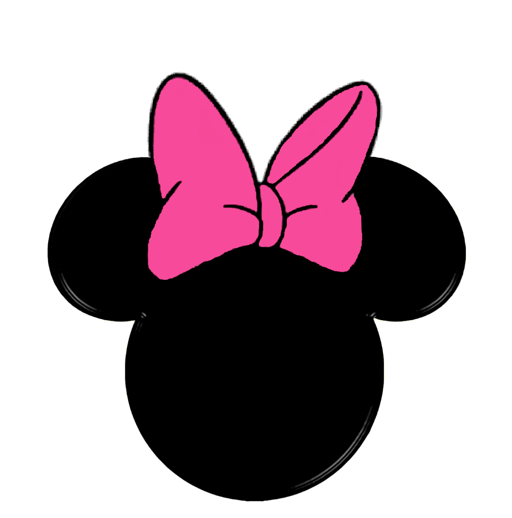 graphic royalty free download Image detail for hat. Minnie clipart face outline pink.