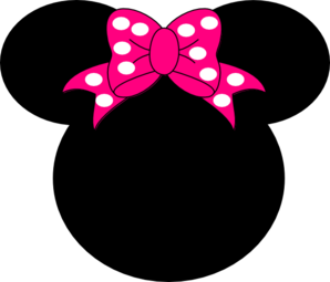 clip art free stock Mouse clip art at. Minnie clipart face outline pink.