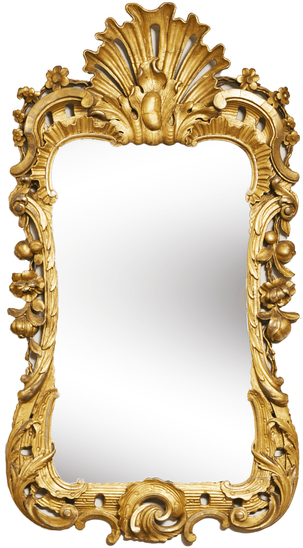 vector transparent stock Mirror Gold Frame transparent PNG