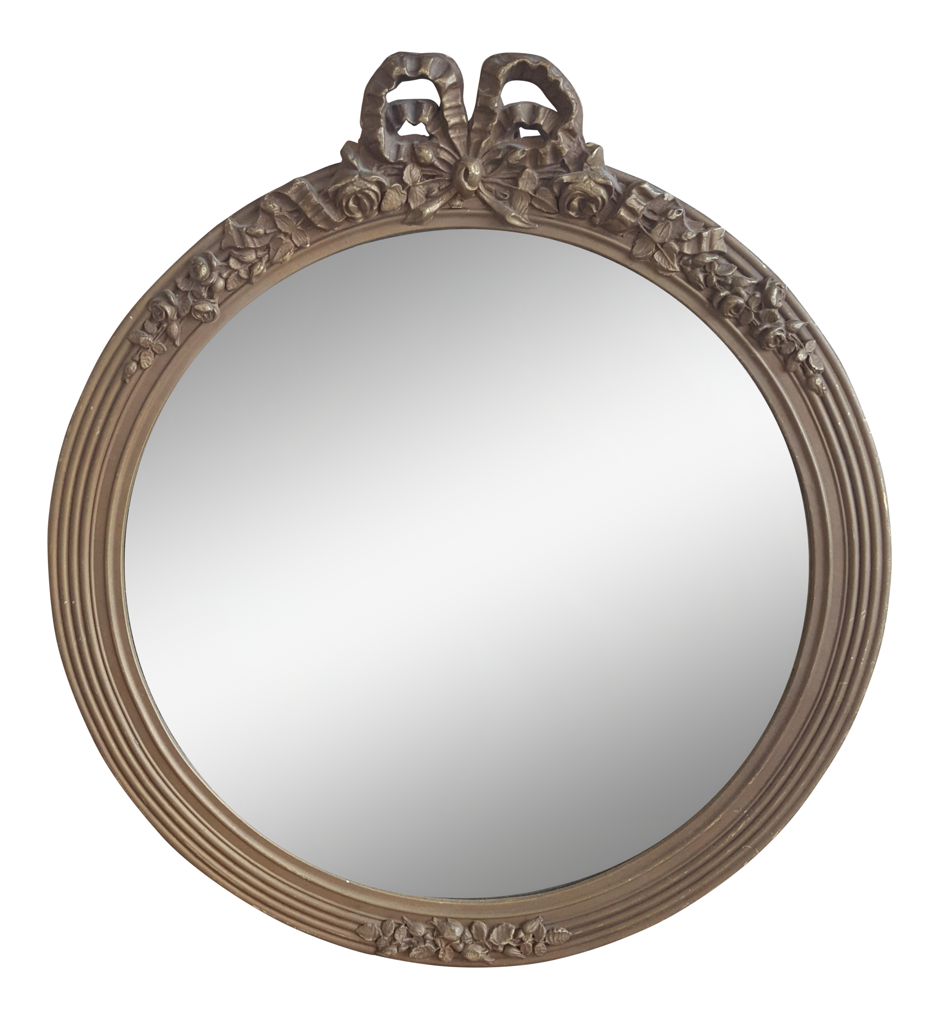 picture royalty free stock Vintage french provincial bow. Mirror transparent circular