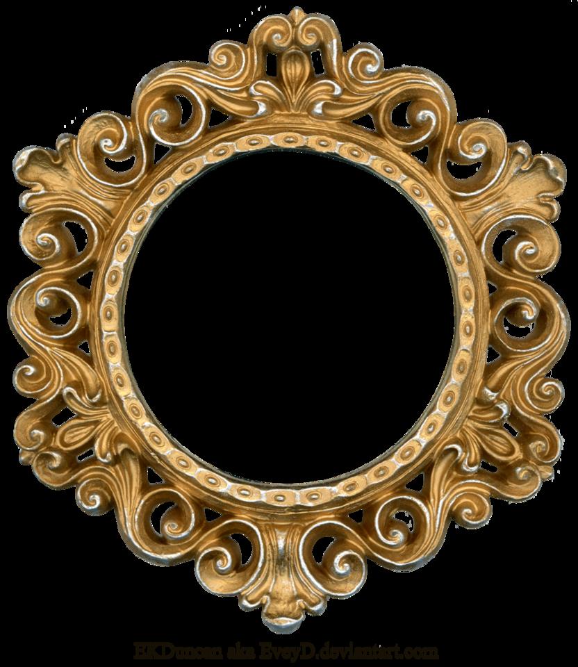 clip art royalty free stock Gold frame encode clipart. Mirror transparent circular