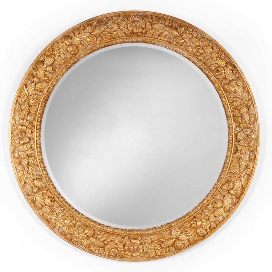 svg transparent library Mirror transparent circular. Large gilded gil mirrorgil