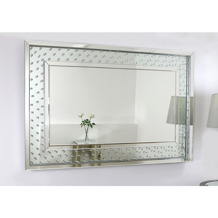 banner royalty free stock All Glass Rectangular Mirror
