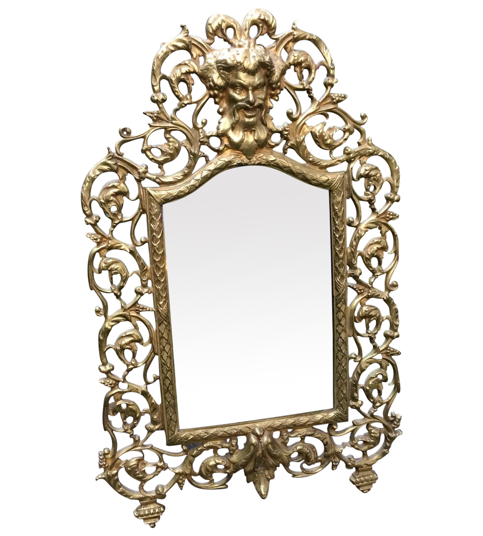 graphic black and white download Mirror transparent victorian. Brass bacchus chairish .