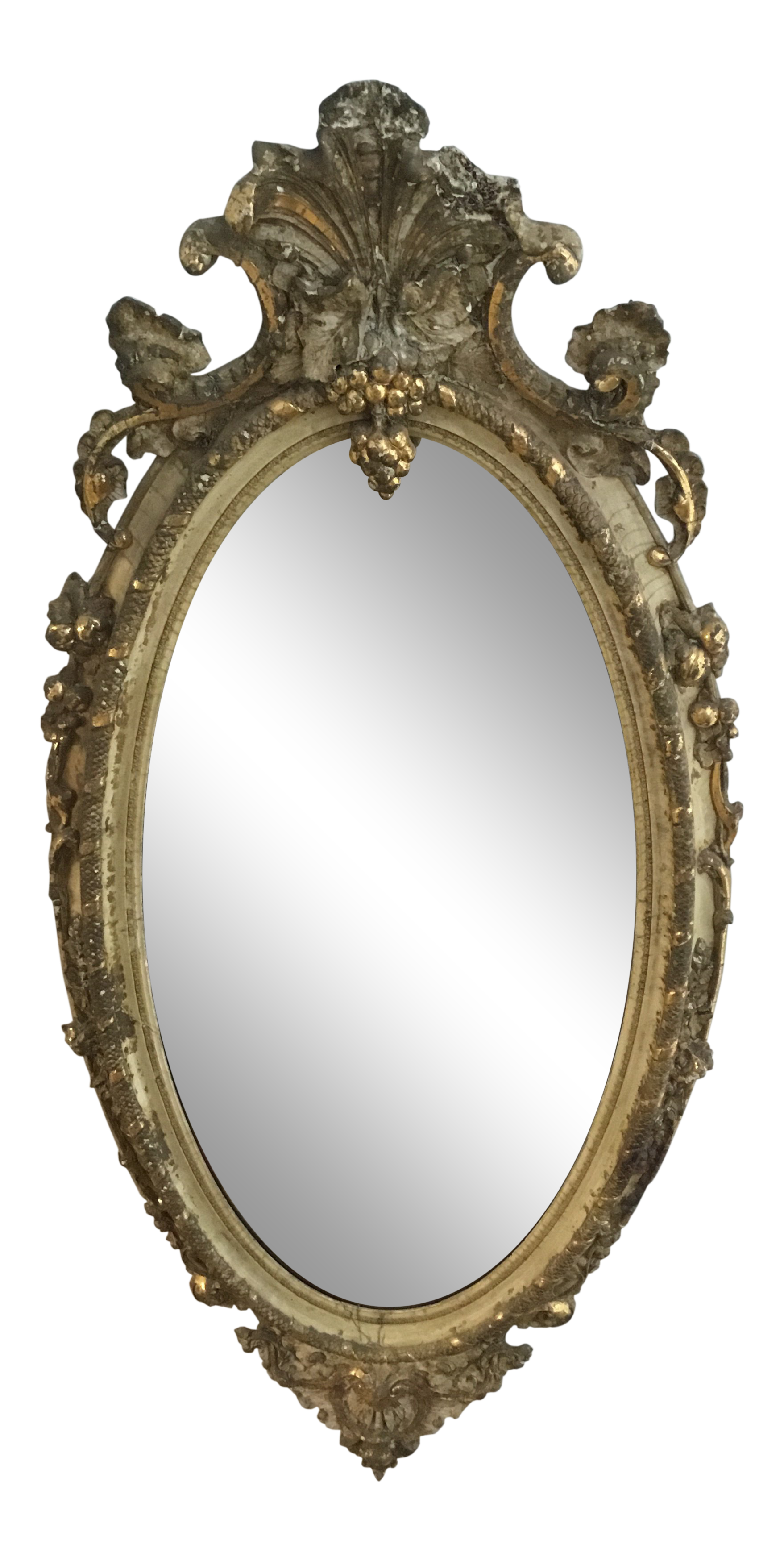 png freeuse library Distressed oval . Mirror transparent victorian.