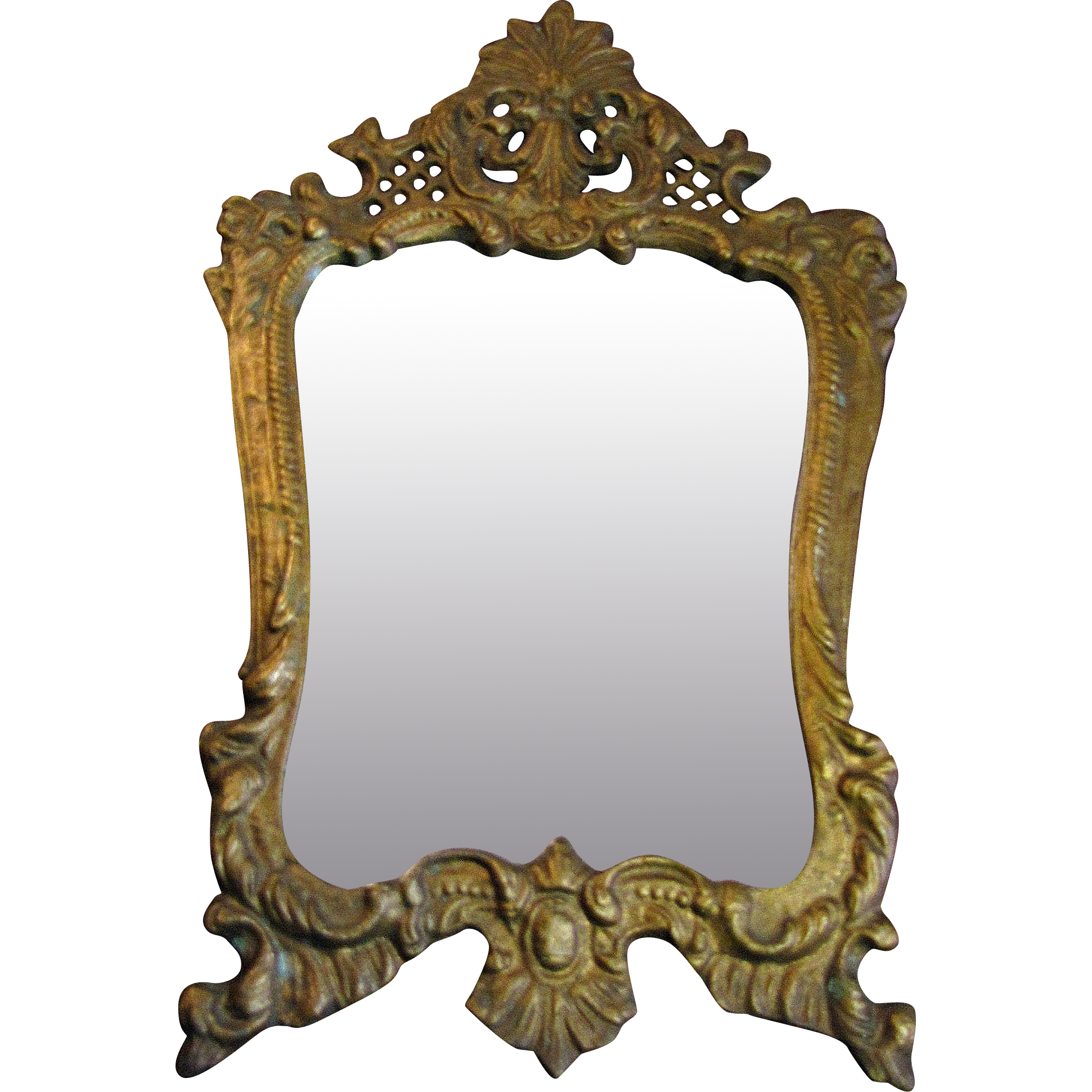 picture royalty free stock Mirror transparent victorian. Gilt ornate french rococco.