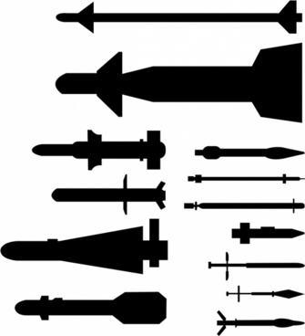 black and white download Missile vector. Free download for