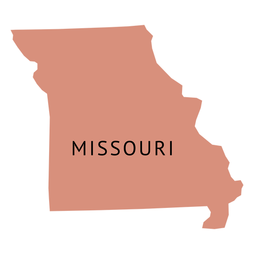 vector library library Missouri vector. State plain map transparent