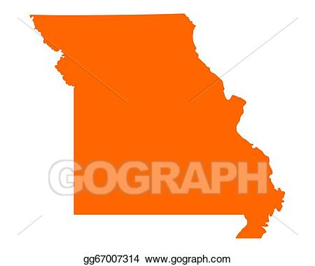 banner library library Missouri vector. Clipart map of illustration