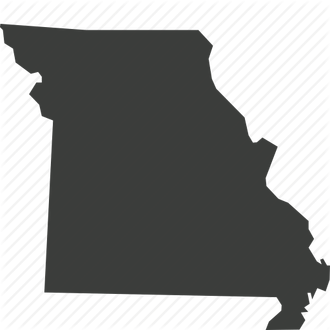 vector black and white State map usa another. Missouri vector
