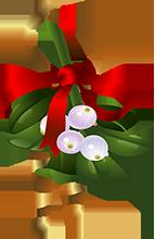 vector transparent Mistletoe clipart animated. Holly christmas gifs