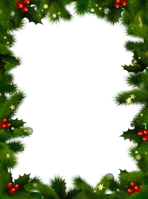 banner library download Transparent photo frame with. Clipart christmas borders