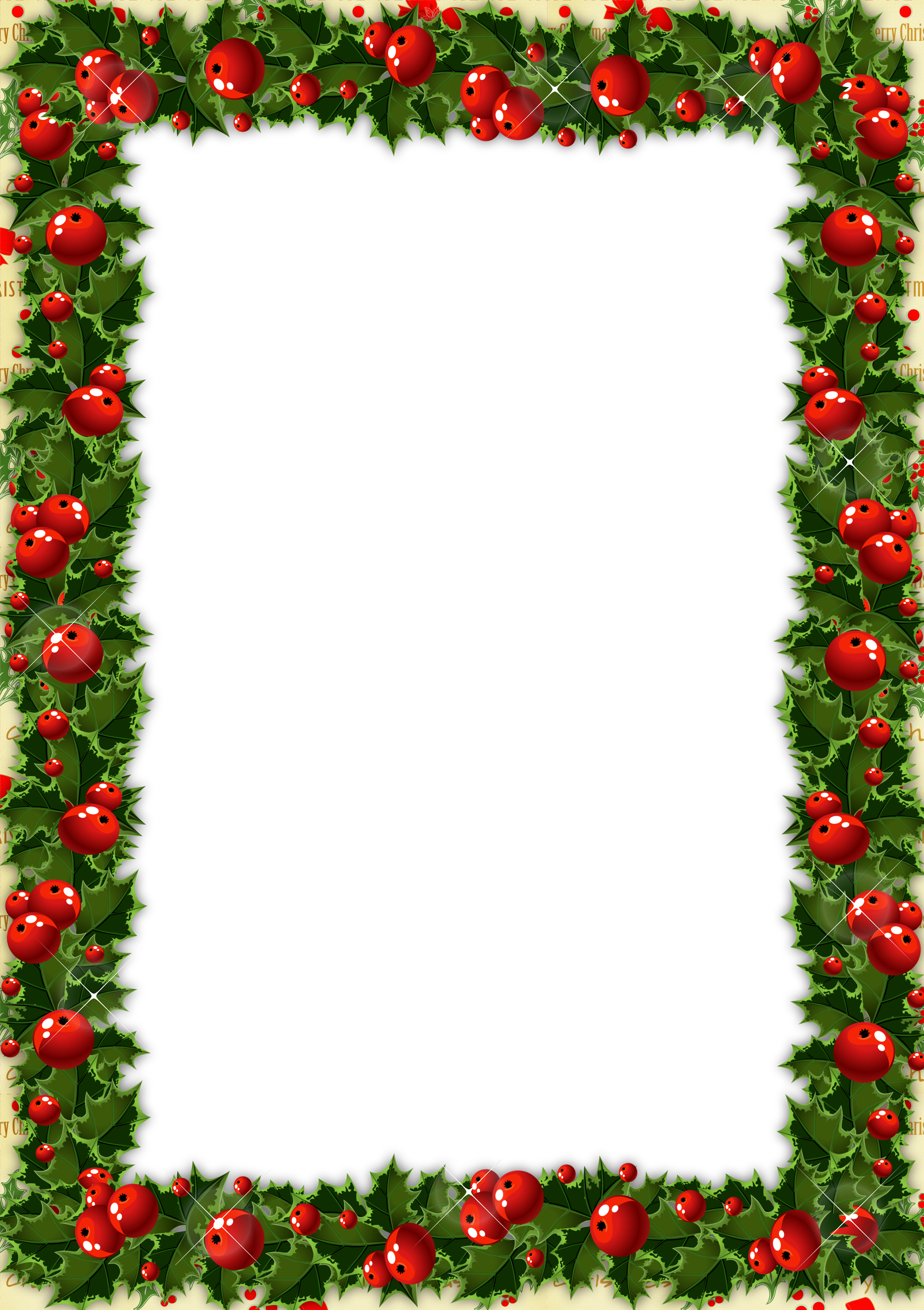 jpg royalty free download Transparent Christmas Photo Frame with Mistletoe