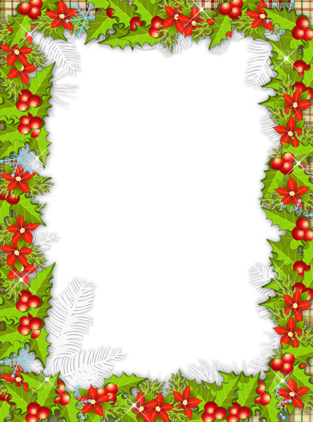 free library Christmas png photo. Mistletoe clipart frame.
